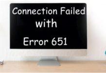 Connection failed with error 651