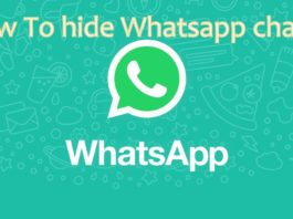 Hide whatsapp chats