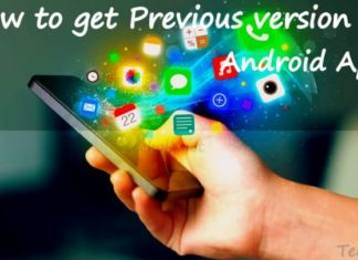 Get previous version of android apps