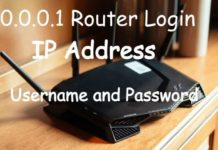 10.0.0.1 Router Login, IP Address, Username and Password