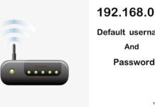 192.168.0.1 Login settings