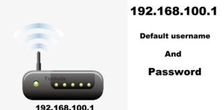 192.168.100.1 login