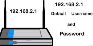 192.168.2.1 login username and password