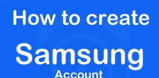 How to create samsung account