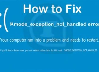 KMODE-Exception-Not-Handled in windows 10