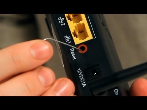Reset button in a router