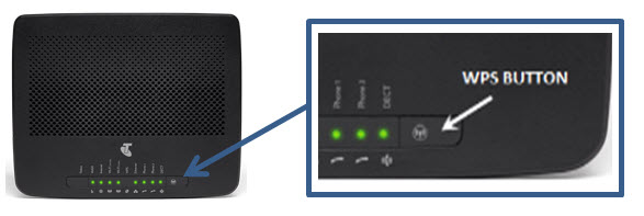 WPS button in netgear router