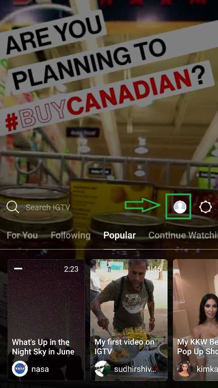 HOW TO USE IGTV APP