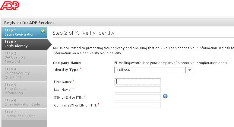 ADP login instructions