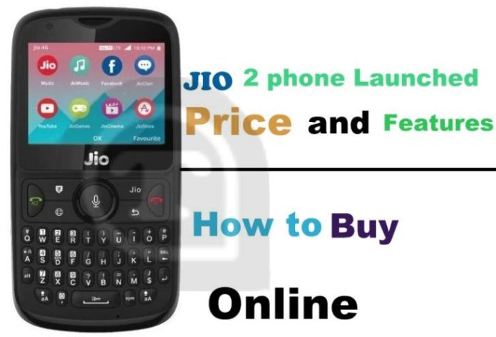 How to buy jio 2 phone online