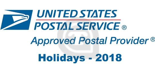 USPS Federal holidays