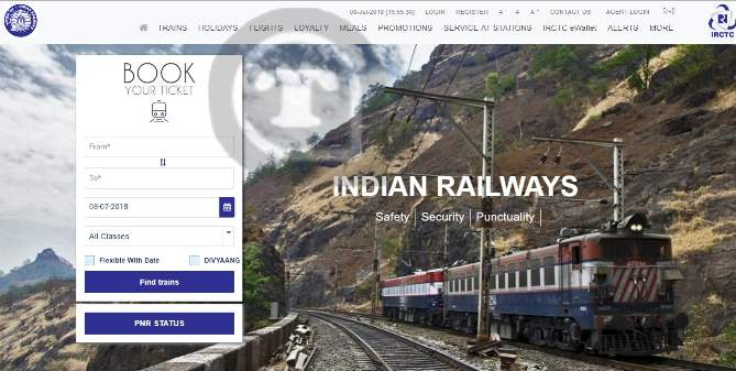 irctc registration and irctc login