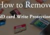 How to remove write protection from micro SD card