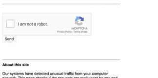 Our system detected unusual traffic from your computer