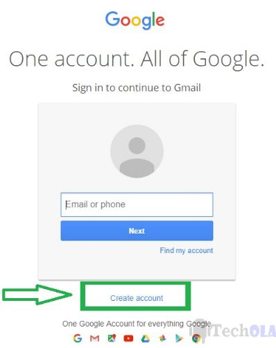 Gmail signup or login