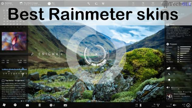 Best Rainmeter Skins or themes For Windows PC January 2019