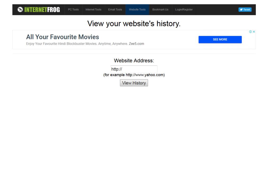 InternetFrog - Wayback Machine Alternative