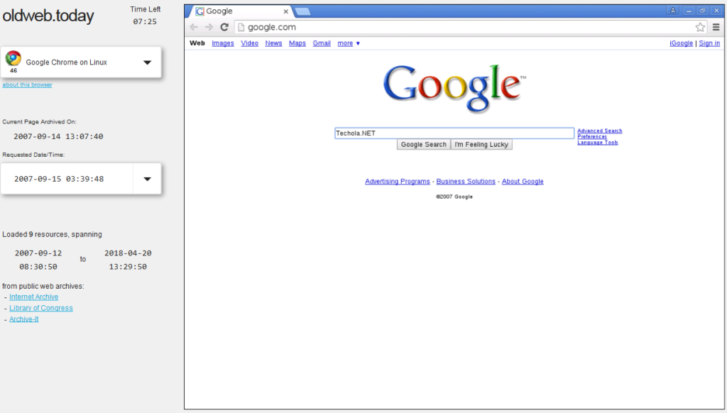 Oldweb.Today - Wayback Machine Alternative