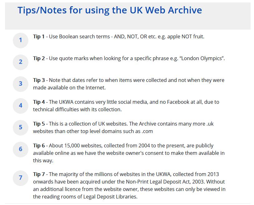 UKWA - Wayback Machine Alternative.